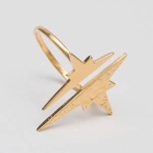 Le Cygne Δαχτυλίδι κεραυνός χρυσό